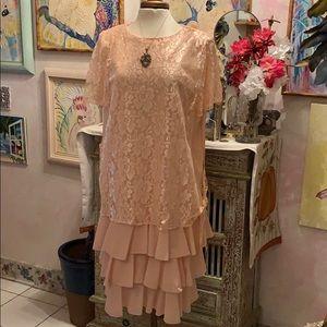 Pink Lace Dress size 20W $30